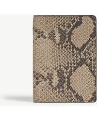 The Case Factory - Soft Python Print Leather Passport Cover - Lyst