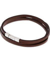 Tateossian - Leather Double-wrap Bracelet - Lyst