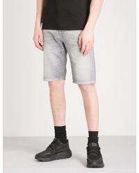 DIESEL - Thos Slim-fit Faded-wash Denim Shorts - Lyst