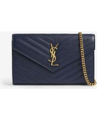dba2e493e8f8 Saint Laurent Monogram Quilted Leather Zip-around Purse in Natural ...