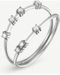 The Alkemistry - Kismet By Milka Line 14ct White-gold And Diamond Ring - Lyst