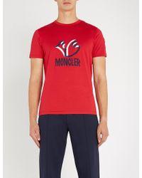 Moncler - 2 1952 Logo-print Cotton-jersey T-shirt - Lyst