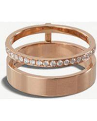 Repossi - Berbere Module 18kt Rose-gold And Diamond Ring - Lyst