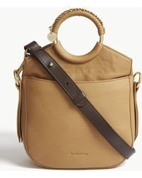 See By Chloé - Ring Handles Leather Shoulder Bag - Lyst