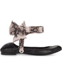 Claudie Pierlot - Achille Floral Strap Leather Ballet Flats - Lyst