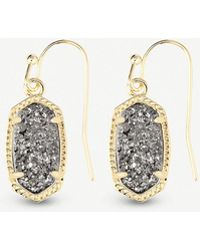 Kendra Scott - Lee 14ct Gold-plated And Platinum Drusy Earrings - Lyst