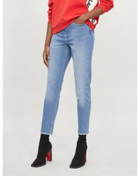 Karl Lagerfeld - Karl Lagerfeld X Kaia Mom-fit Tapered High-rise Jeans - Lyst