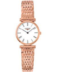 Longines - L4.209.1.11.8 La Grande Classique Rose Gold-plated Watch - Lyst