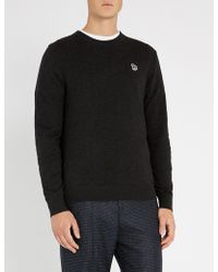 Paul Smith - Zebra-embroidered Cotton-blend Jumper - Lyst