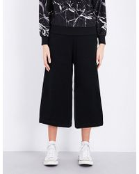 5cm - Wide Leg Cotton-blend Trouserwomen'mall - Lyst