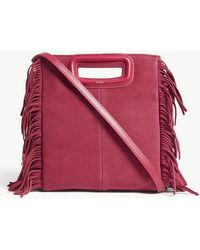 Maje   M Suede Fringed Cross-body Bag   Lyst