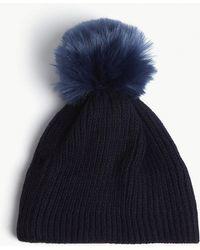 Sandro - Gulian Knitted Wool-blend Pompom Beanie - Lyst
