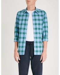 Burberry - Alexander Checked Regular-fit Cotton Shirt - Lyst