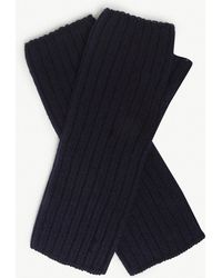 Johnstons - Ribbed Cashmere Wrist Warmers - Lyst