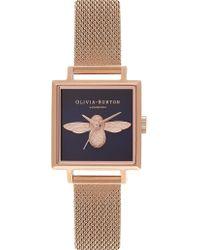 Olivia Burton - Ob16am96 Rose Gold-plated Bee Motif Watch - Lyst