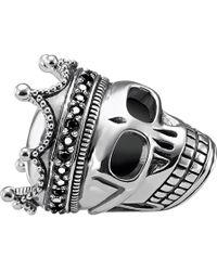Thomas Sabo - Skull King Sterling Silver Karma Bead - Lyst
