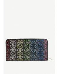 Loewe - Rainbow Anagram Leather Wallet - Lyst