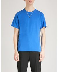 The Kooples - Necklace Embellished Cotton T-shirt - Lyst