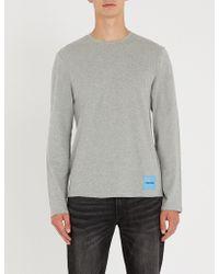 Calvin Klein - Logo-badge Cotton-jersey Top - Lyst