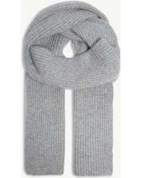 Johnstons - Rib-knit Cashmere Scarf - Lyst