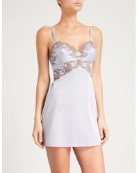 Wacoal - Lace Affair Stretch-jersey Chemise - Lyst