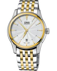 Oris | 73376704351mb Atelier Silver And Gold Plated Stainless Steel Watch | Lyst
