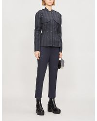 A.F.Vandevorst - Poor Mid-rise Straight-leg Wool Trousers - Lyst
