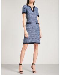 St. John - Flared-hem Tweed Mini Dress - Lyst