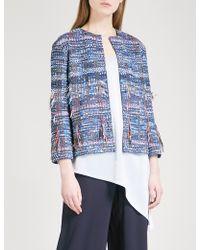 St. John - Frayed Watercolour Tweed Jacket - Lyst