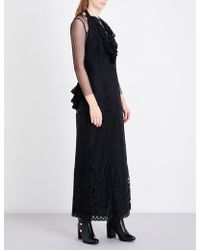 Anna Sui - Ruffled Lace Dress - Lyst