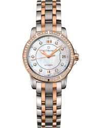CARL F BUCHERER | Stainless Steel And 18k Rose-gold Watch | Lyst