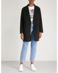 Maje - Galami Brushed Wool-blend Coat - Lyst