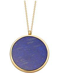 Astley Clarke - Large Lapis Slice Stilla 18ct Yellow-gold Vermeil Locket Necklace - Lyst