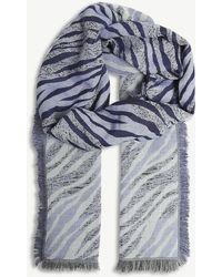 Sandro - Tiger Stripe Cotton Foulard - Lyst