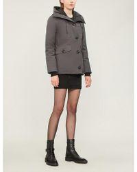 Canada Goose - Womens Grey Rideau Padded Parka Jacket - Lyst