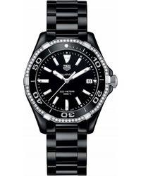 Tag Heuer - Way1395.bh0716 Aquaracer Diamond And Ceramic Watch - Lyst