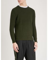The Kooples - Ribbed-knit Cotton Jumper - Lyst