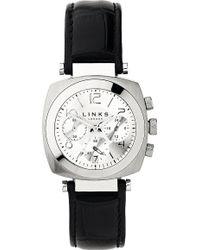 Links of London - Brompton Leather Bracelet Chronograph Watch - Lyst