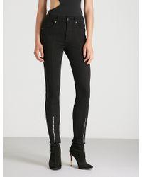 GOOD AMERICAN - Zipped-hem High-rise Skinny Jeans - Lyst