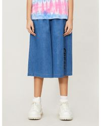 Mini Cream - Logo-print Cotton Trousers - Lyst