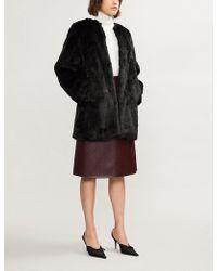 MICHAEL Michael Kors - Round-neck Faux-fur Coat - Lyst