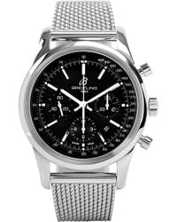 Breitling - Ab015212/ba99 154a Transocean Chronograph Stainless Steel Watch - Lyst