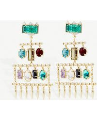 Kendra Scott - Emmylou Plated Brass - Lyst