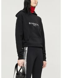 Givenchy - Logo-print Cotton-jersey Hoody - Lyst