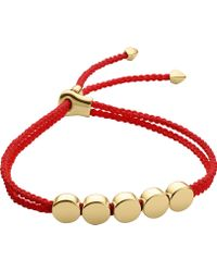 Monica Vinader | Linear Bead 18ct Gold-plated Friendship Bracelet | Lyst