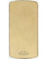 Smythson - Panama Cross-grain Leather Glasses Case - Lyst