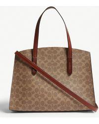 COACH - Charlie Carryall Leather Shoulder Bag - Lyst