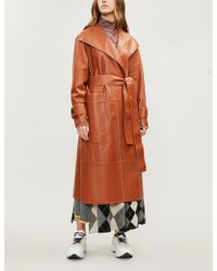 Pringle of Scotland - Leather Trench Coat - Lyst