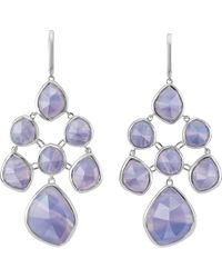 Monica Vinader - Siren Chandelier Sterling Silver And Blue Lace Agate Earrings - Lyst