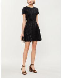 The Kooples - Studded Stretch-knit Mini Dress - Lyst